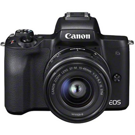 Canon EOS M50 Mirrorless Camera With EF-M 15-45mm IS STM Lens - Black Image 1